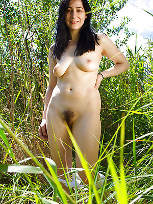 Beautiful mature amateur Brooklyn pleasuring herself outdoors