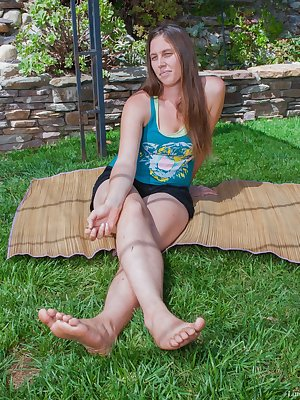 Veronica is a sexy and busty American, and she is sharing outdoor fun with her sexy female friend. They kiss and soon share fingering and licking of each others hairy pussies. They grind and have fun.