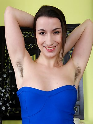 Annie Engeltie looks beautiful tonight in her new blue dress. She is an all natural girl with her unshaved underarms and her breath taking hairy pussy.Watch how she runs her fingers through that bush.
