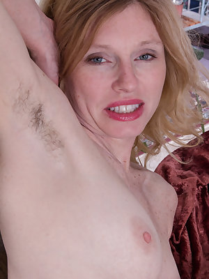 Lacey has a great time on her couch, especially when she takes on her heart shaped patterned pajamas and shows off her really hairy pussy. She is not shy about what she has to offer. Her hairy pussy.