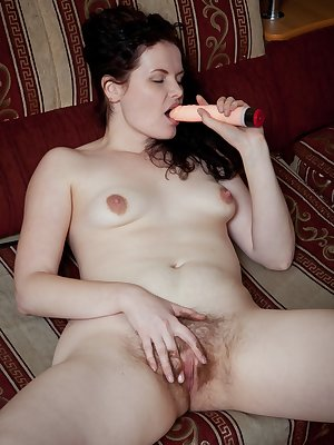 In this hirsute porn hairy girl Sindy spends her lazy Sunday stripping down and giving her hairy body a little loving. She massages her perky breasts before sliding down her body for even more fun.