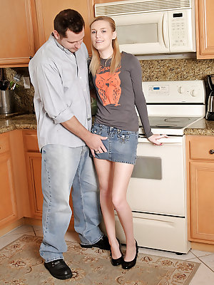 Amateur Amanda Bryant gets the repair guy to shag her furry pussy big time