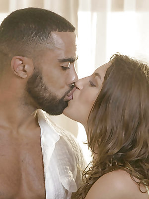 Euro girl Julia Roca sucking and fucking BBC for interracial cumshot