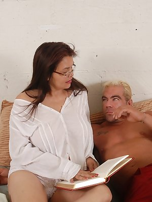 Pretty chick Patty is having awesome sex with her muscular partner