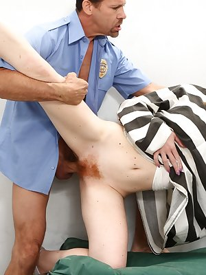 Redhead prison inmate Kierra Wilde sucks and fucks a correctional officer