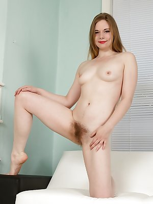 Hairy young babe Alice Wonder full nudity with her hairy pussy and ass