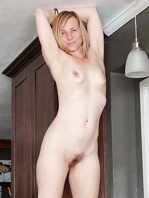 Horny agd lady Cody Hunter climbs in her kitchen sink for masturbation relief
