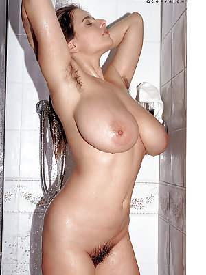 French mom Chloe Vevrier showing off big wet tits and nipples in shower